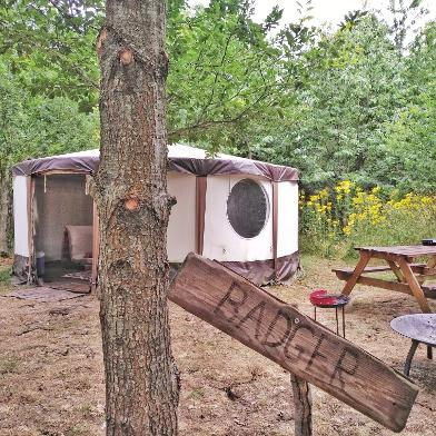 Badger Yurt at Woodland Escape Glamping in Somerset
