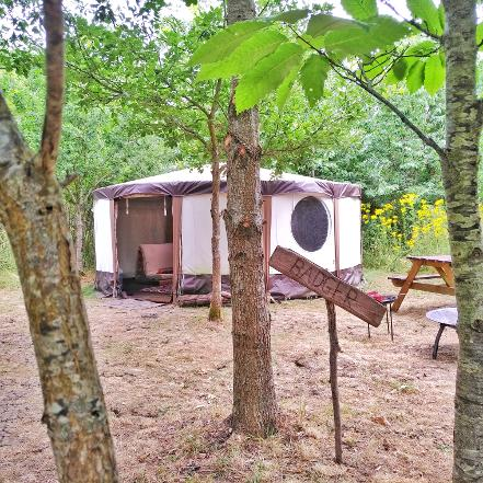 Badger Yurt Glamping in Somerset at Woodland Escape