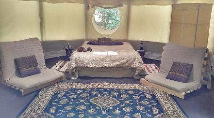 Yurts in Somerset at Woodland Escape
