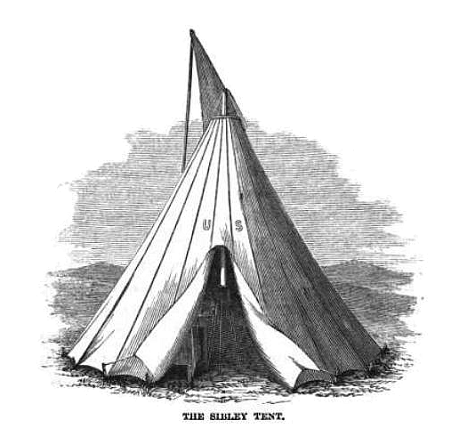 Illustration of the Sibley Tent, the predecessor to the modern day glamping Bell tents.