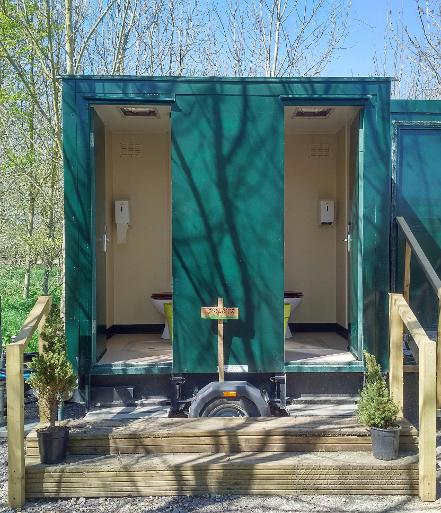 Ablutions facilities at Woodland Escape in Somerset