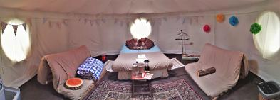 Stargazer Yurt glamping at Woodland Escape in Somerset