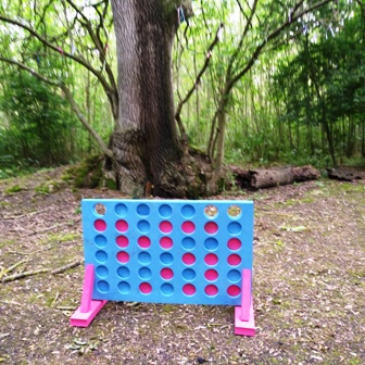 woodland glamping games
